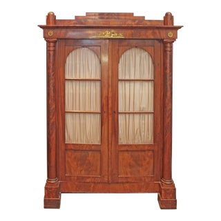 19th Century Biedermeier Bibliotheque of Figured Mahogany For Sale