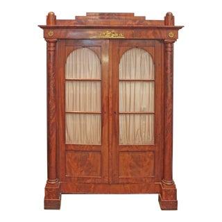 19th Century Biedermeier Bibliotheque of Figured Mahogany