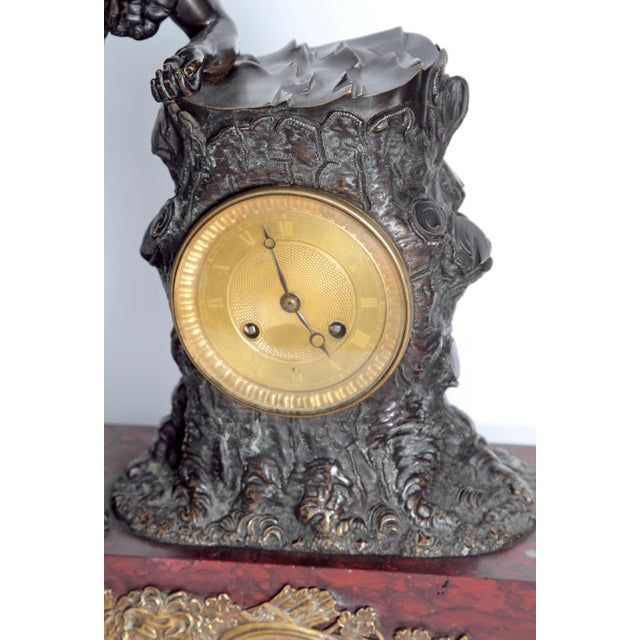 "French Empire ""Farnese Hercules"" Mantel Clock attributed to Claude Galle - Image 4 of 11"