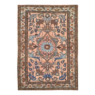 """Pasargad N Y Antique Persian Lilian Saruk Hand-Knotted Rug - 3'5"""" X 4'10"""""""