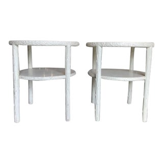 20th Century Rustic Faux Bois Side Tables - a Pair For Sale