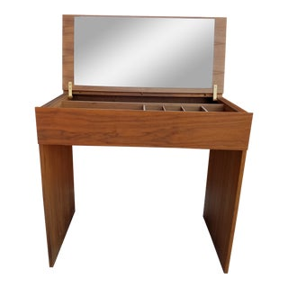 1950s Vintage Danish Modern Teak Arne Wahl Iverson for Vinde Mobelfabrik Vanity For Sale