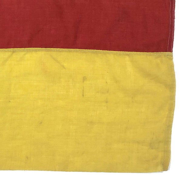 1940s Mid Century Nautical Wool Signal Flag For Sale - Image 5 of 6