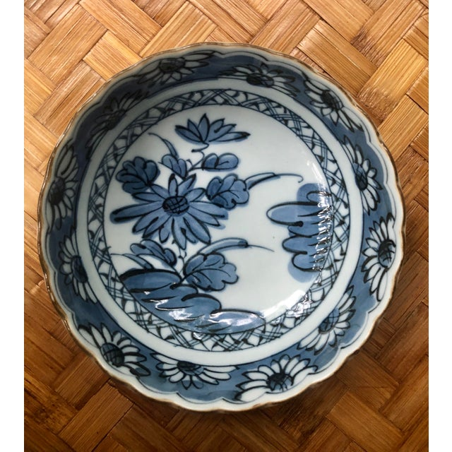 Chinese Blue and White Floral Porcelain Bowl For Sale - Image 4 of 7