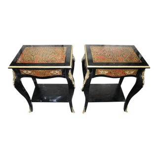 19th Century Art Noveau Boulle Occasional Tables - a Pair For Sale