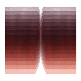 """Color Space Series 4: Burgundy Gradient"" Abstract Print"