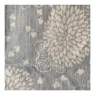 """Vintage """"Kyoto"""" Hines Cotton Sky Blue Linen Fabric - Yardage For Sale"""