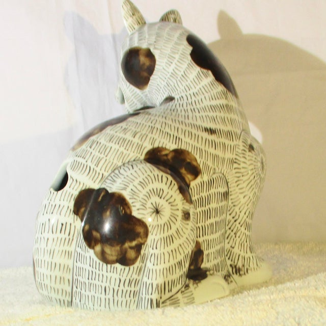 Chinese Rockefeller Collection of Mottahedeh Kang Hsi Cat For Sale - Image 3 of 7