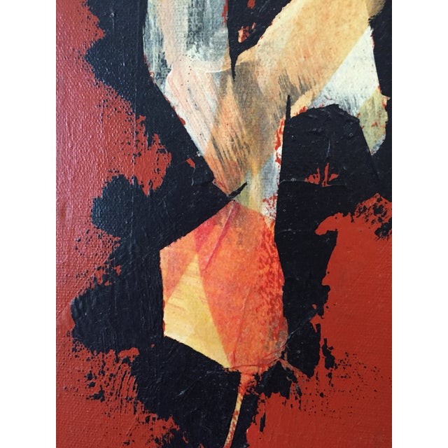 Mid-Century Modern 1969 Mixed-Media Abstract by Wolcott For Sale - Image 3 of 5