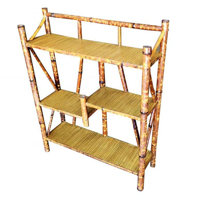 Restored Tiger Bamboo Four-Tier Bookshelf - Image 3 of 5