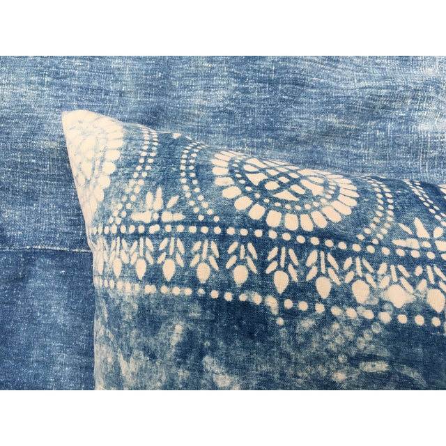 Antique Bleached Batik Pillow - Image 3 of 7