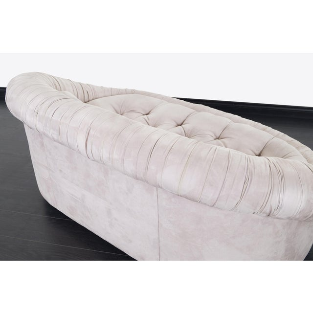 """Gray Vintage Italian """"Cloud"""" Loveseat For Sale - Image 8 of 9"""