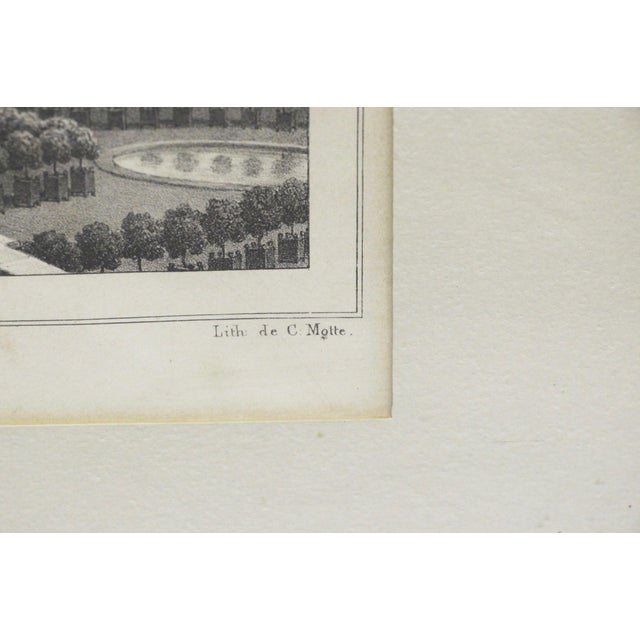 1950s Framed Versailles Lithograph Print For Sale - Image 5 of 7