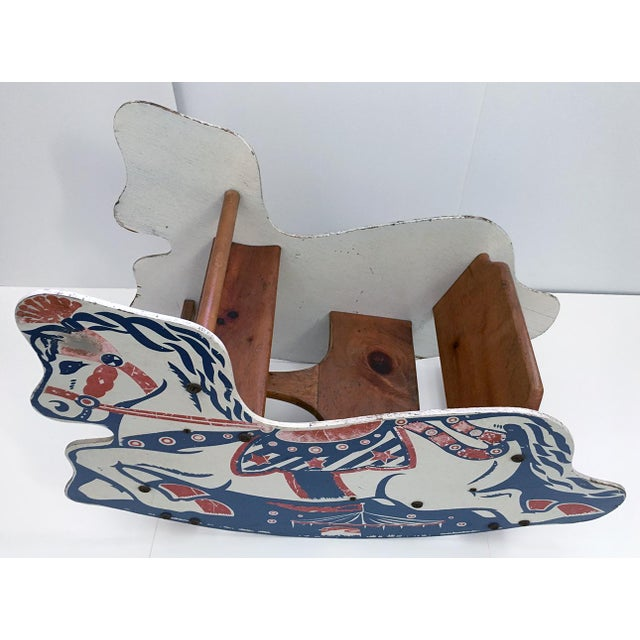Americana Antique Children's Rocking Horse For Sale - Image 3 of 9