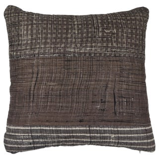 Patchwork Grey Pillow For Sale