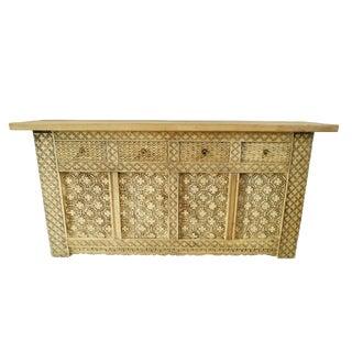 Tea Stain 4-Drawer Sideboard
