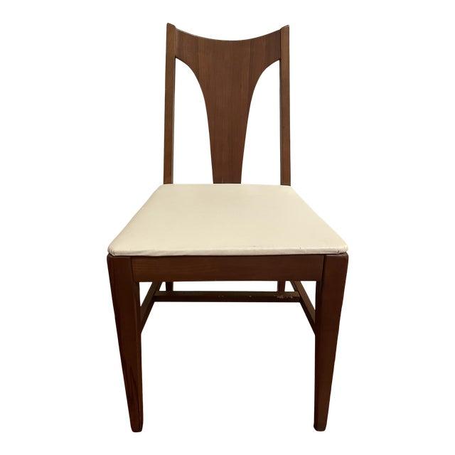 Mid Century Johnson Carper Walnut Desk Chair For Sale