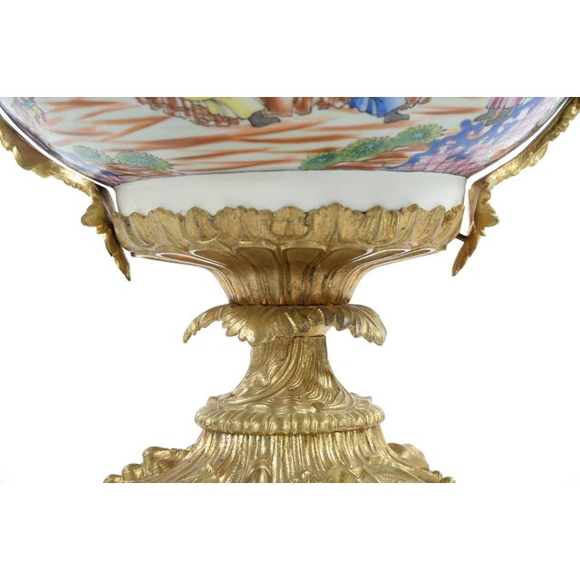 French Chinoiserie Gilt Bronze Mounted Bowl For Sale - Image 4 of 9