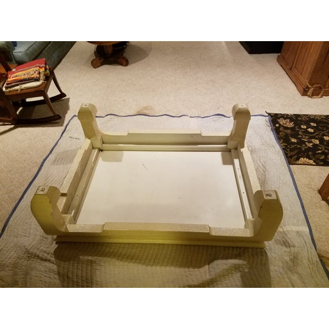 Custom Egg Shell Ming Style Rectangle Coffee Table - Image 7 of 7