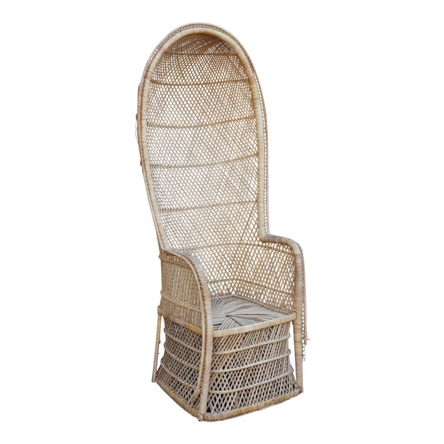Vintage Rattan Porter Chair - Image 1 of 9