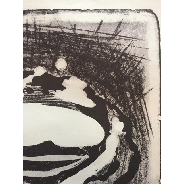 Jerry Opper Mid Century Modern Abstract Stone Litho Jerry Opper For Sale - Image 4 of 7