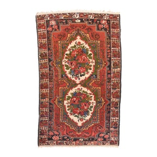 Antique Hand Made Bakhtiari Persian Rug For Sale