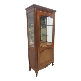 County French Cherry China Cabinet