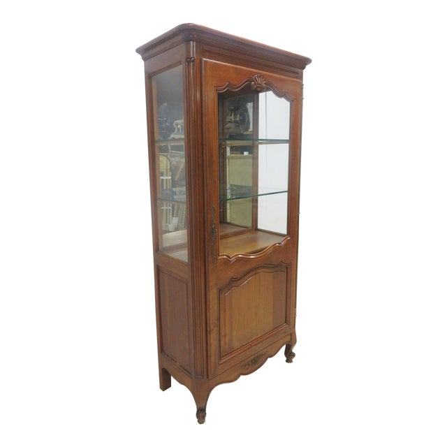 County French Cherry China Cabinet - Image 1 of 10