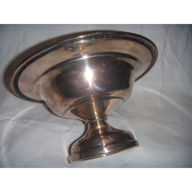 Silver-Plate Pedestal Bowl - Image 4 of 9