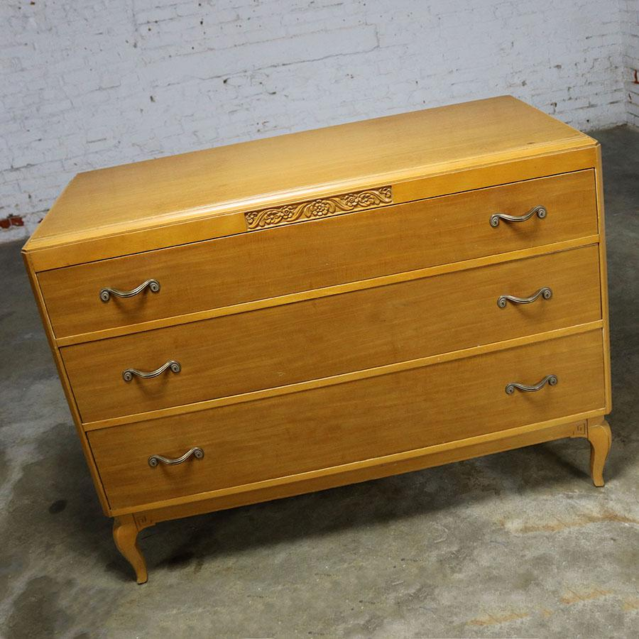 Art Deco Art Deco Style Low Dresser By Rway Northern Furniture Company Of  Sheboygan For Sale