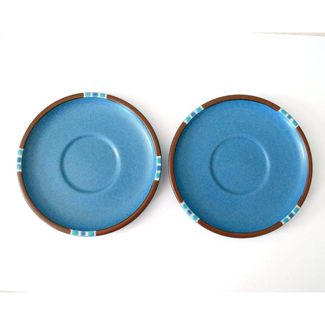 1980s Vintage Dansk Mesa Blue Cup and Saucer - a Pair For Sale - Image 5 of 7