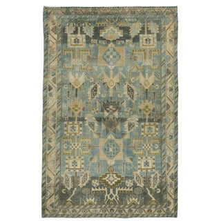 1930s Vintage Persian Malayer Rug-3′9″ × 5′10″ For Sale