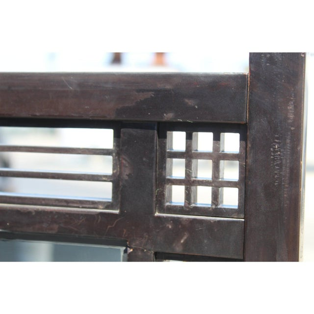 Japanese Meiji Period Mirrored Screen For Sale In San Diego - Image 6 of 12