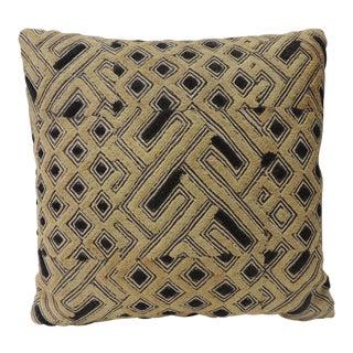 Kuba Square African Textile Decorative Pillow For Sale