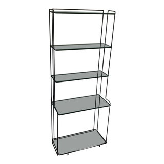 Max Sauze Isocelles Series Black Metal Shelving Unit For Sale