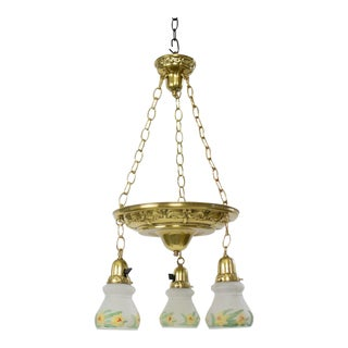 Daffodil Pendant Pan Light For Sale