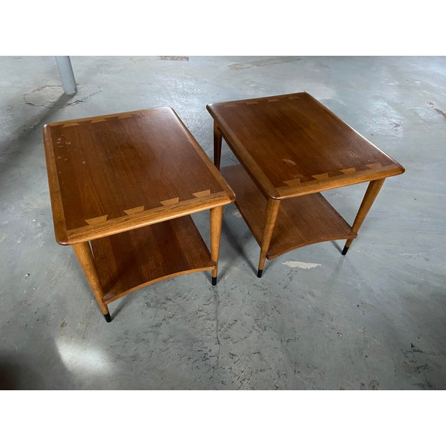 Lane Furniture Lane Furniture Acclaim Series by Andre Bus Side Tables - A Pair For Sale - Image 4 of 4