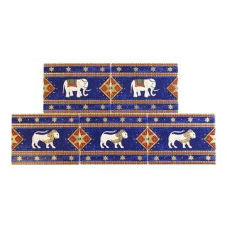 Villeroy & Boch Elephant Enamel Tiles - Set of 5 For Sale