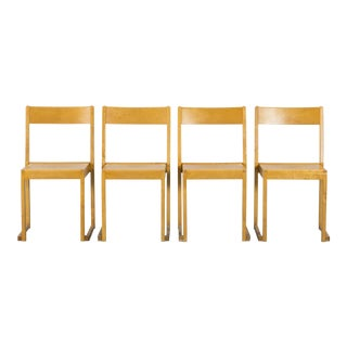 "1930s Vintage Sven Markelius ""Stacking"" Chairs- Set of 4 For Sale"