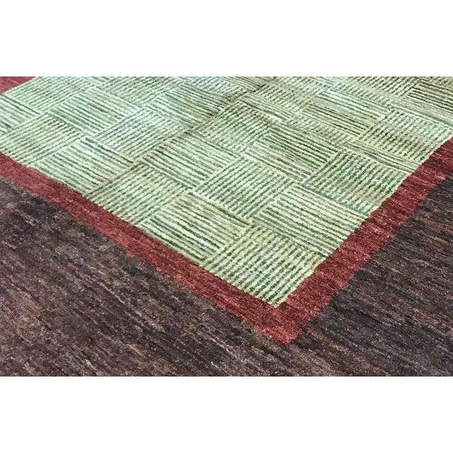 Contemporary Contemporary Hand Woven Wool Rug - 5'10 X 9' For Sale - Image 3 of 4