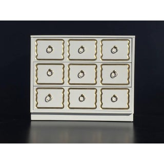 1960s Hollywood Regency Cream Lacquer Dorothy Draper Espana Chest Preview