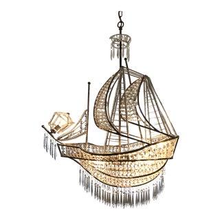 Crystal Ship Chandelier For Sale