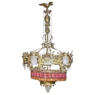 Late 19th Century Art Nouveau Chandelier For Sale