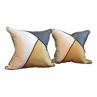 Custom Pillows in Jim Thompson Outdoor Fabric - A Pair