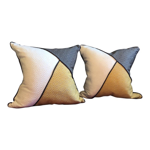 Custom Pillows in Jim Thompson Outdoor Fabric - A Pair - Image 1 of 9