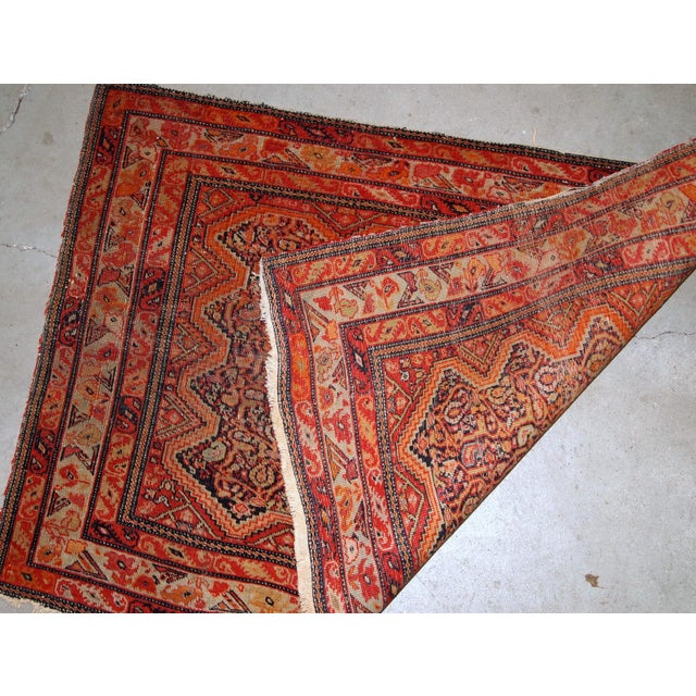 1880s, Handmade Antique Collectible Persian Mishan Malayer Rug 2.3' X 3.7' For Sale In New York - Image 6 of 7
