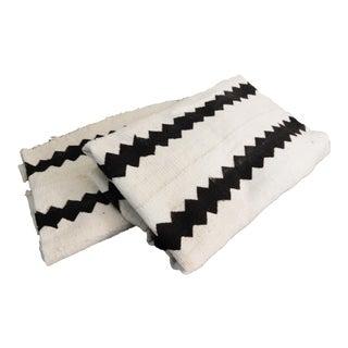 Malian White Mud Cloth Textiles - A Pair