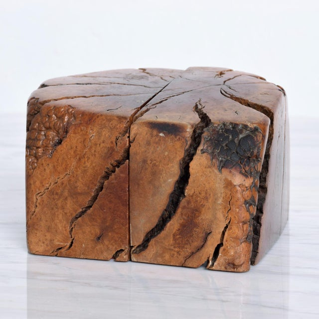 1960s Mid Century Modern Burl Wood Bookends Attr Don Shoemaker For Sale - Image 5 of 11