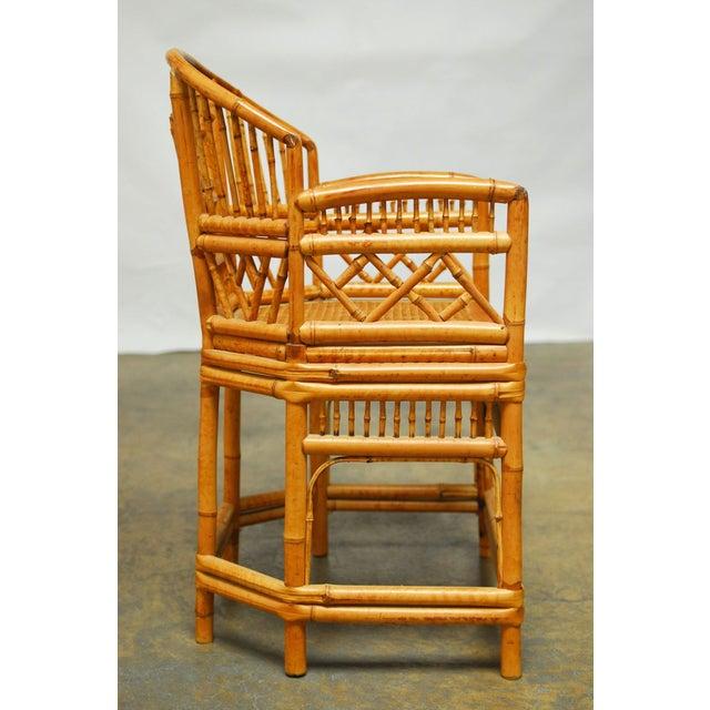 Bamboo Brighton Pavillion Style Armchair - Image 9 of 9