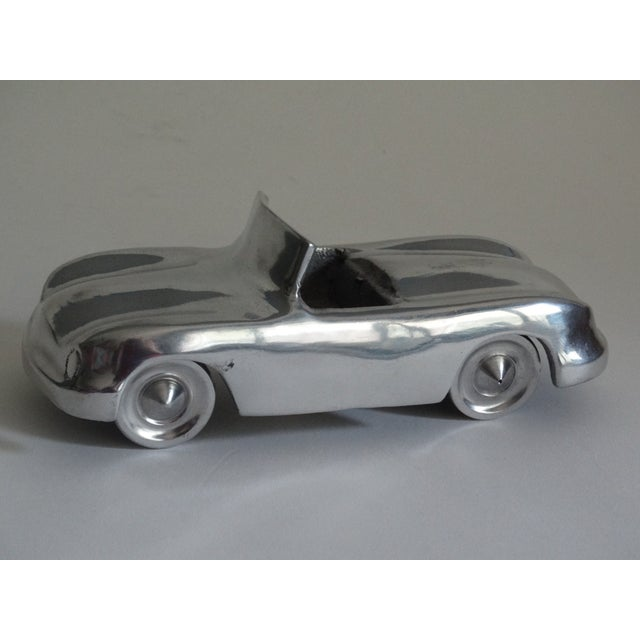 2000s Stylized 1950's Chrome Roadster For Sale - Image 5 of 8